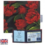 New Blue Badge Display Wallet - Tulips